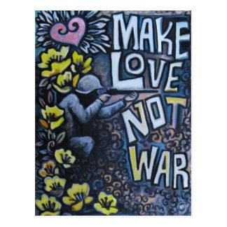 Faça o amor, não guerra: Cartão da propaganda Cartão Postal