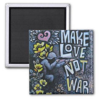 Faça o amor, não guerra: Ímã da propaganda Ímã Quadrado