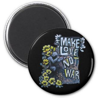 Faça o amor, não guerra: Ímã da propaganda Ímã Redondo 5.08cm