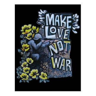 Faça o amor, não guerra: Produtos da propaganda Cartão Postal
