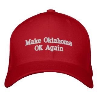 Faça o boné de beisebol da APROVAÇÃO de Oklahoma