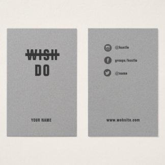 Faça-o. Convicção - cartão social corajoso do
