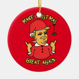 Faça o excelente do Natal outra vez Ornamento De Cerâmica Redondo