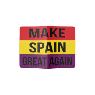 Faça o excelente outra vez - Bandera de España da Capa Para Passaporte