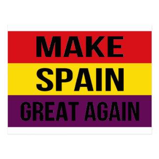 Faça o excelente outra vez - Bandera de España da Cartão Postal