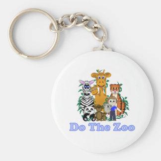 Faça o jardim zoológico chaveiro