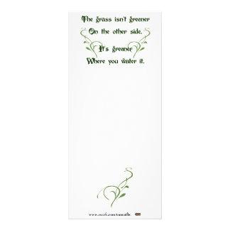 Faça o mais verde de grama panfletos informativos