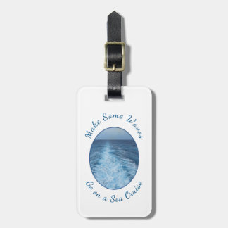 Faça o mar de algumas ondas cruzar personalizado etiqueta de bagagem