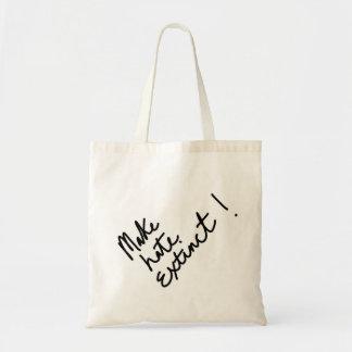 Faça o ódio extinto bolsa tote
