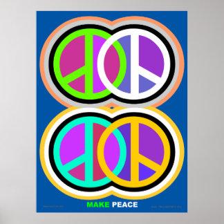 Faça o poster amkepeaceart.com da paz