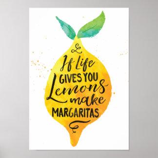 Faça o poster da arte das citações do Watercolour