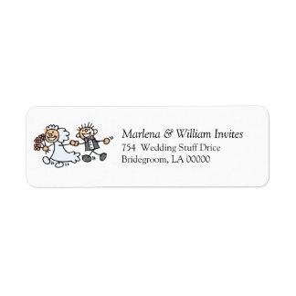 Faça-o você mesmo casamentos convidam a etiqueta d etiqueta endereço de retorno