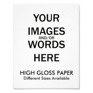 Faça-o você mesmo - impressão DE ALTO BRILHO Impressão De Foto