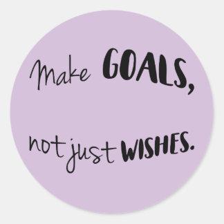 Faça objetivos, não apenas etiquetas dos desejos