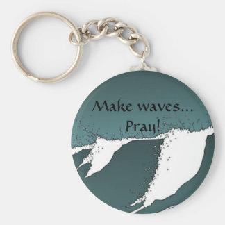 Faça ondas chaveiro
