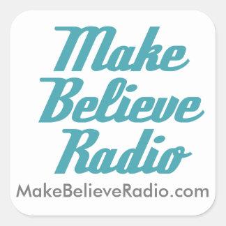 Faça para acreditar a etiqueta de rádio adesivo quadrado