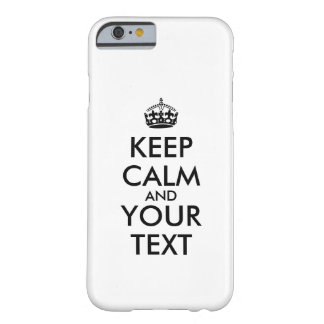 Faça para manter o iphone calmo 6 das capas de