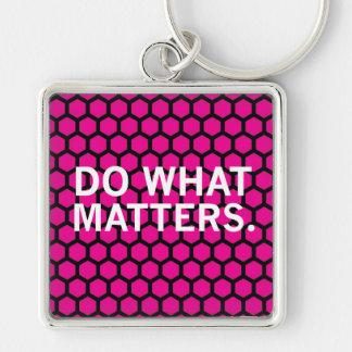 Faça que matérias no teste padrão cor-de-rosa do chaveiro