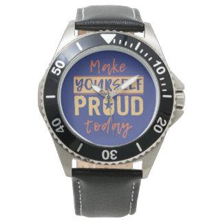 """""""Faça-se"""" relógios orgulhosos"""