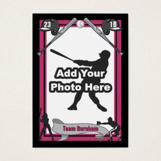Faça seu próprio cartão de basebol