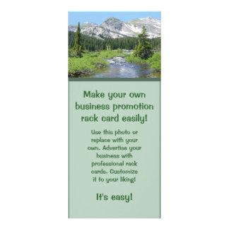 Faça seu próprio cartão relativo à promoção da 10.16 x 22.86cm panfleto