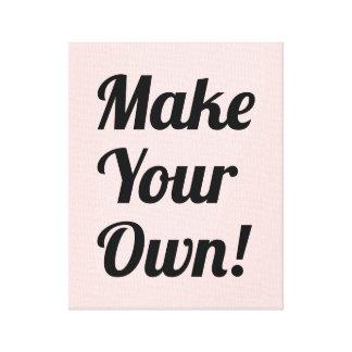 Faça seu próprio costume impresso impressão de canvas envolvidas
