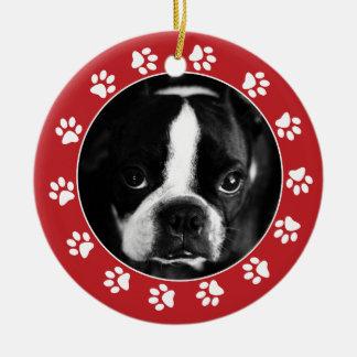 Faça seu próprio ornamento da foto do Natal do