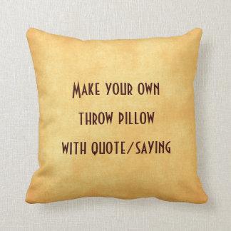 Faça seu próprio travesseiro com citações ou dizer almofada