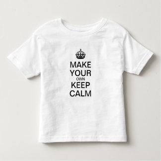 Faça seus próprios manter a camisa calma dos