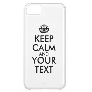 Faça seus próprios manter o caso calmo do iphone capas para iphone 5C