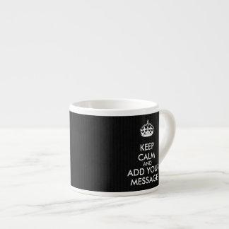 Faça seus próprios manter o copo calmo do café xícara de espresso
