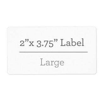 Faça sua própria etiqueta 8,5 x 11 etiqueta de frete