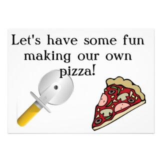 Faça sua própria pizza convidar convite