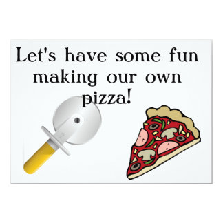Faça sua própria pizza convidar convite 12.7 x 17.78cm