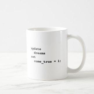 Faça todos seus sonhos vir verdadeiro caneca de café
