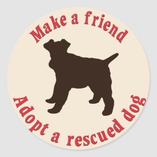 Faça um amigo - Fox Terrier do fio Adesivos Redondos