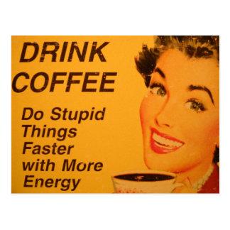 Faça um anúncio mais rápido do café do vintage das cartão postal