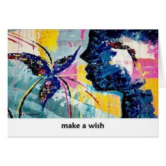 Faça um cartão da arte do desejo por Augustine