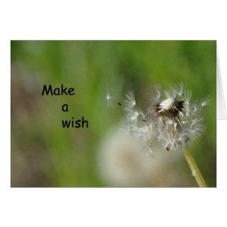 Faça um cartão de Frameable do desejo