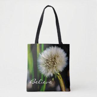 Faça um desejo personalizado, acredite-o, bolsa tote