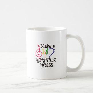 Faça um ruído alegre caneca de café