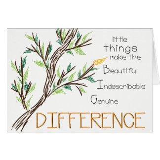 Faça uns cartões de agradecimentos da diferença