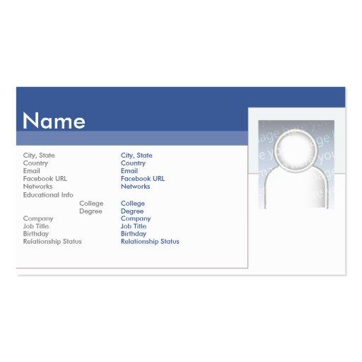 Facebook - negócio cartoes de visitas