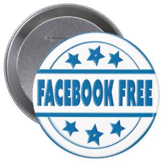 Facebook social livra seu crachá redondo feito sob bóton redondo 10.16cm