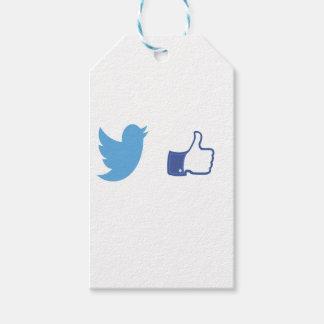 Facebook Twitter Etiqueta Para Presente
