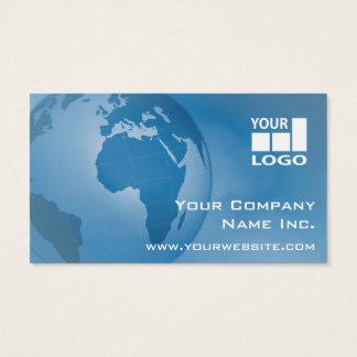 Fácil adicione seu azul incorporado global do cartão de visitas
