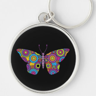 Fácil amar o chaveiro das borboletas do tecnicolor
