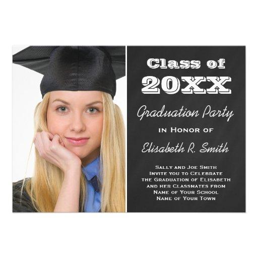 Fácil personalizar o partido da foto do retrato da convites personalizados