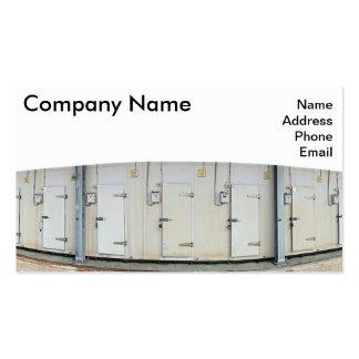 Facilidade moderna do armazenamento do frio e de cartão de visita