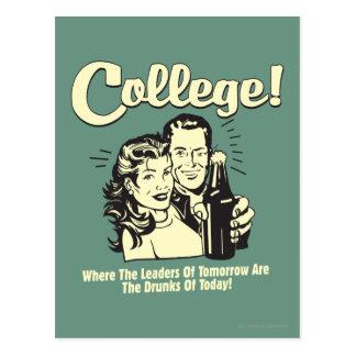Faculdade: Dos líderes bebado amanhã hoje Cartão Postal